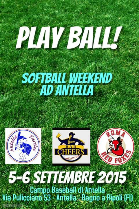 Softball weekend for Bagno a ripoli pec